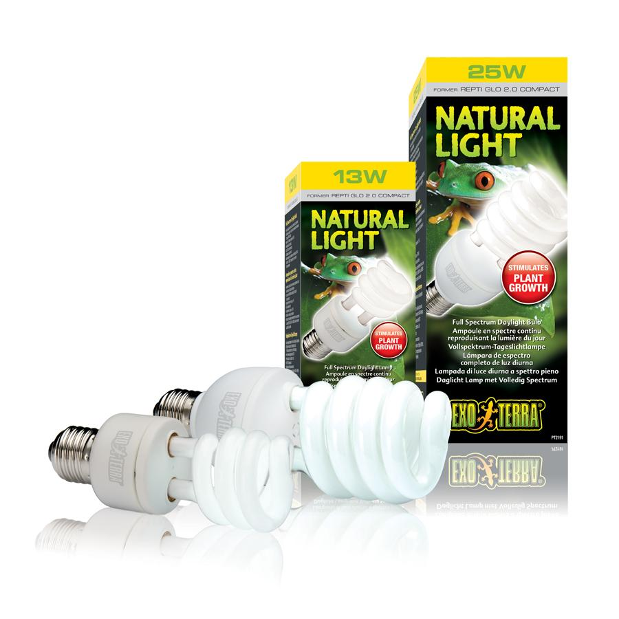 exo terra natural light vollspektrum tageslichtlampe der terraristikshop licht uv kompaktlampen. Black Bedroom Furniture Sets. Home Design Ideas