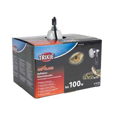 Trixie Reptiland Reflektor-Klemmleuchte mit Schutzgitter