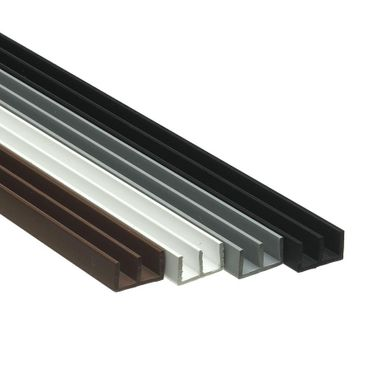 Glass guide profiles/glass guide rails for 6 mm glass thickness - complete set